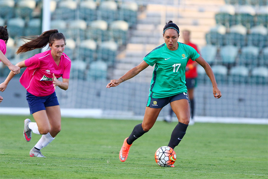 The Matildas play warm up games in Wollongong